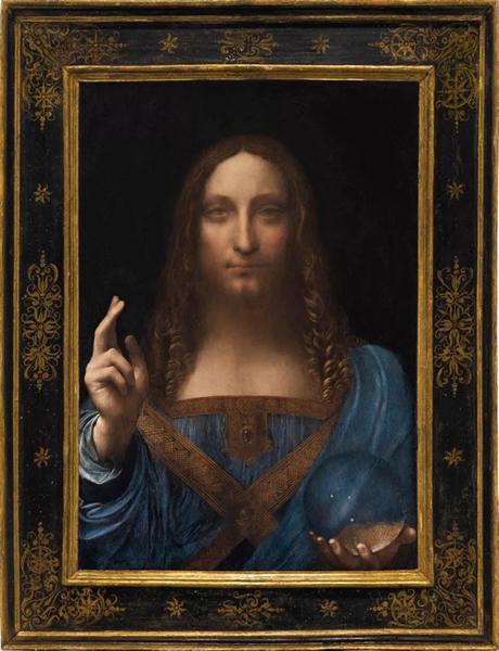 ▲ 莱昂纳多・达・芬奇((Leonardo da Vinci,1452 - 1519),《救世主》(Salvator Mundi ),油彩 画板,65.7 x 45.7 cm,约1500年,成交价格:450,312,500美元,位列第一