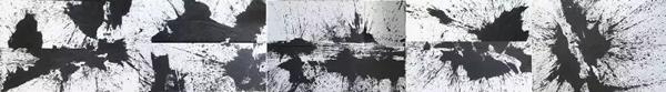 洪耀  《水墨弹性》 纸本水墨  200×1450cm  2008年