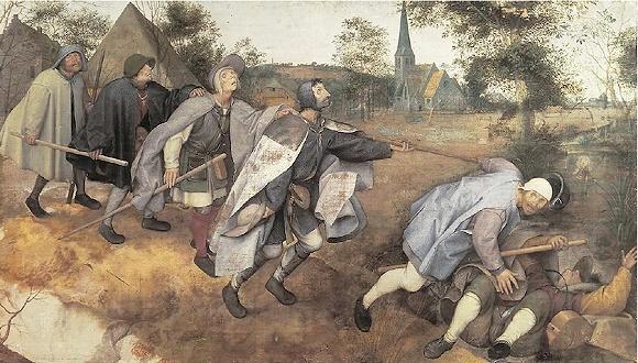 《盲人的寓言》,绘于1568年,收藏于那不勒斯国立卡波迪蒙特博物馆