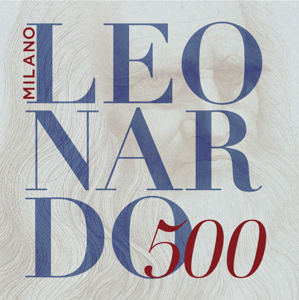 """""""列奥纳多500""""的主题展海报"""