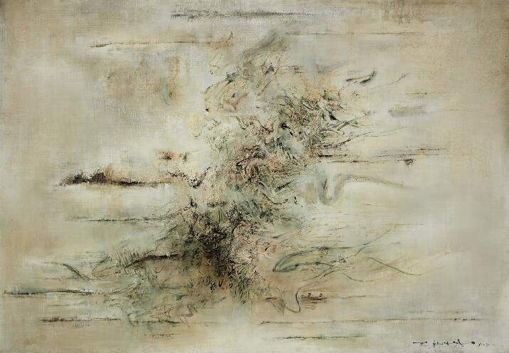 赵无极《无题》,1958年作,油彩画布,118.1 x 166.4公分