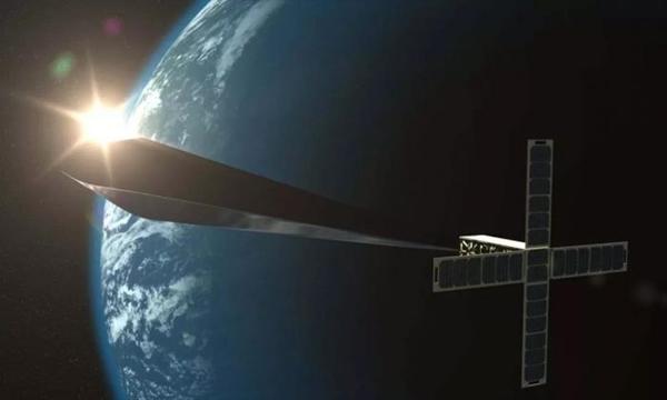 特雷弗·帕格林,《轨道反射器 》(Orbital Reflector),2018。设计渲染图。图片致谢艺术家和 Nevada Museum of Art