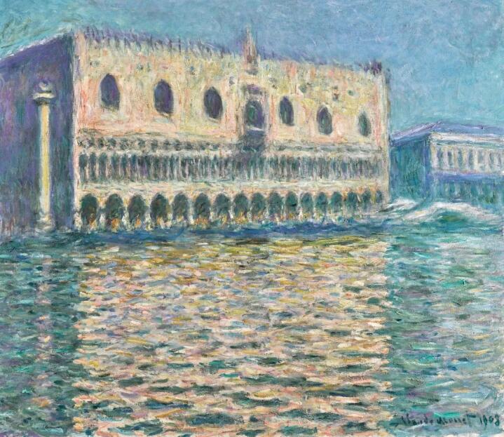 克劳德·莫内,《总督宫》,1908年作,估价20,000,000–30,000,000英镑