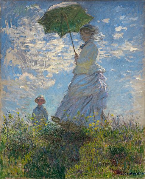 撑阳伞的女人
