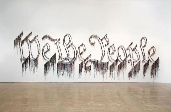 """""""美国公民的叙事"""":艺术家纳利·华德(Nari Ward)纽约新美术馆个展——We the People"""