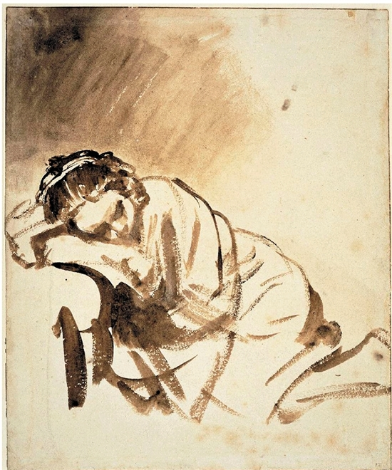 伦勃朗 睡着的女子 约1654年