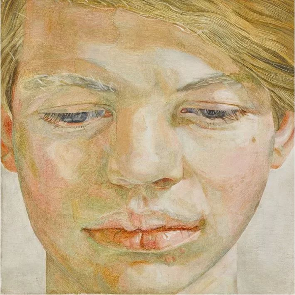 卢西安·弗洛伊德,《男孩头像》,1956年作