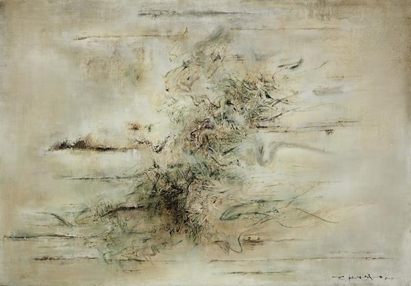 赵无极《无题》,1958 年作,油彩画布,118.1 x 166.4 公分
