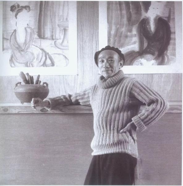 1948年摄于美国《Life》杂志记者专访林风眠