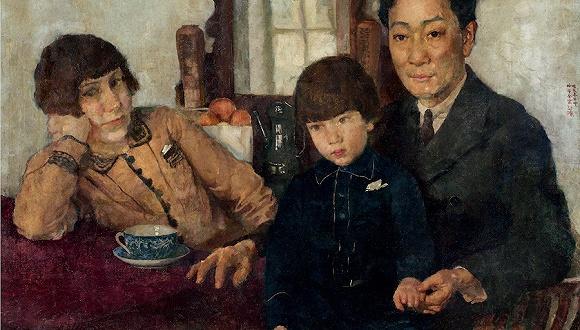 徐悲鸿,杨仲子全家福,1928,布面油彩,龙美术馆收藏