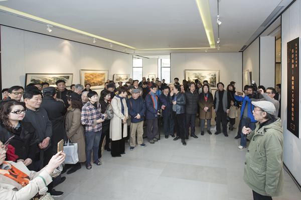原上海大学美术学院院长张培础在开幕式上致词