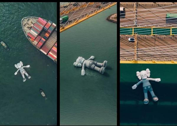 3月香港艺术周期间,KAWS在香港的公共艺术作品;KAWS3月在香港有多火,下文拍卖内容中会有所涉及