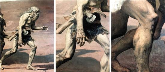 费尔南多·柯尔蒙 该隐(局部) 1880年 藏于巴黎奥赛博物馆