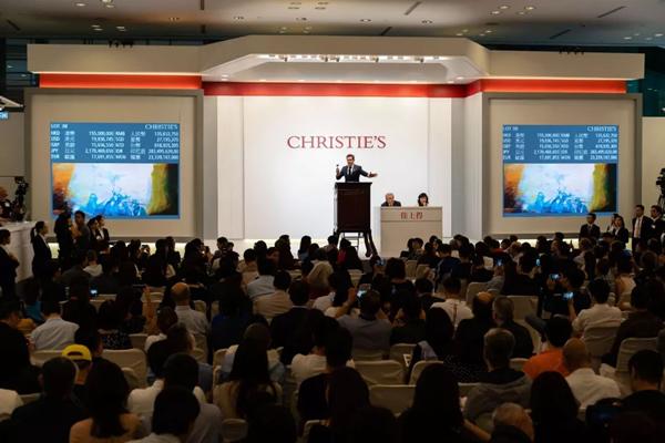 1.78亿港元赵无极三联作领衔,佳士得香港二十世纪及当代艺术晚间拍卖总成交逾9.1亿港元