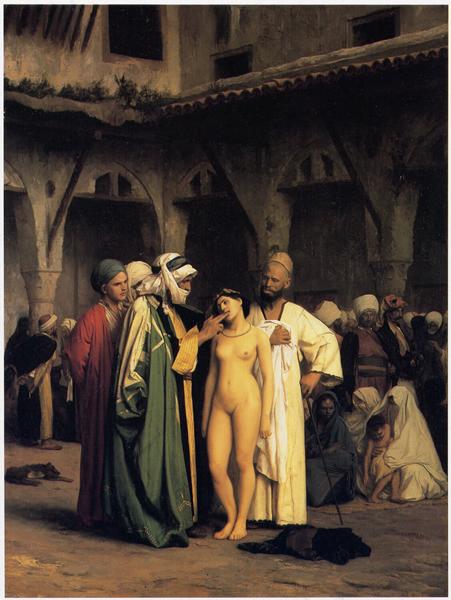 Jean-Léon Gér?me 《The Slave Market》, 1866年。图/取自Wikimedia Commons
