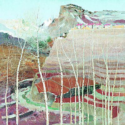 山村晴雪(油画)吴冠中