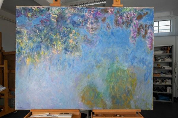 莫奈《紫藤花》