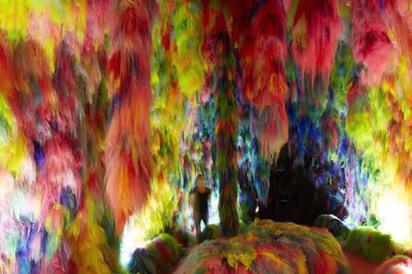 《彩色人类》('Chromo Sapiens'),第58届威尼斯双年展,冰岛馆。摄影:Elisabeth Davidsdottir