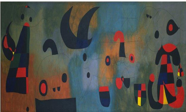 米罗 壁画(局部) 1950-1951年 图片:MoMA