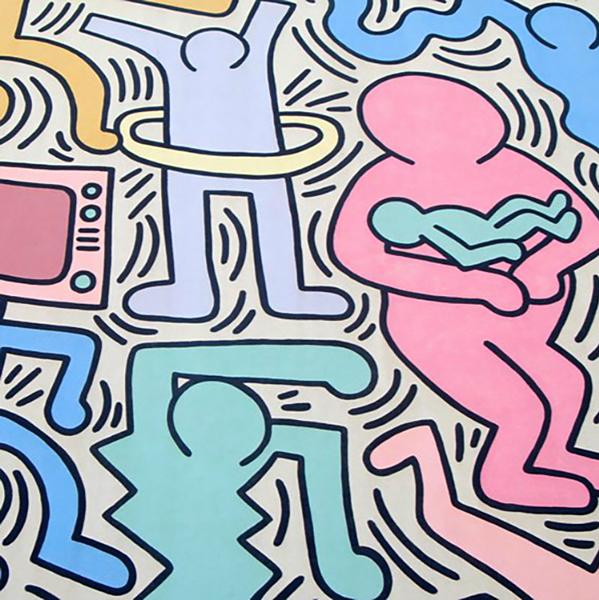凯斯·哈林,Tuttomondo,1989,比萨壁画