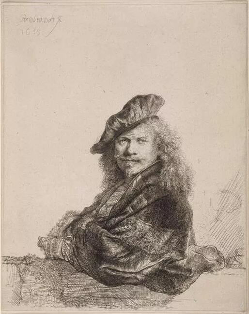 《伦勃朗肖像》 藏于卢浮宫博物馆  RMN-Grand Palais / Gérard Blot