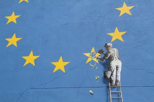 班克斯脱欧壁画神秘消失 英国小镇居民:破坏文化