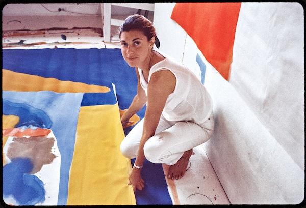 美国抽象表?#31181;?#20041;画家海伦·佛兰肯瑟勒的色?#26102;?#36798;