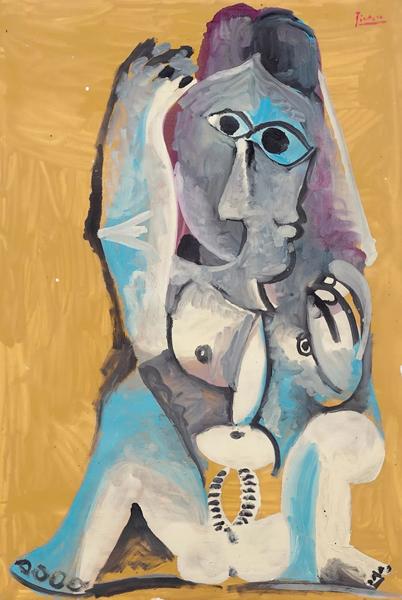 巴布罗·毕加索(1881-1973) 《坐着的裸女》 油彩 画布 130.3 x 89 cm. 1969年作 估价:美元 5,000,000 - 8,000,000