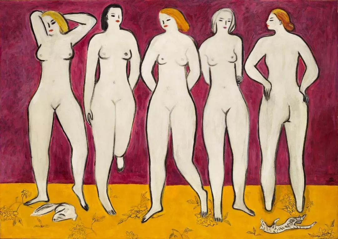 现代艺术旷世绝作 常玉登峰造极之作《五裸女》将领衔佳士得香港秋拍