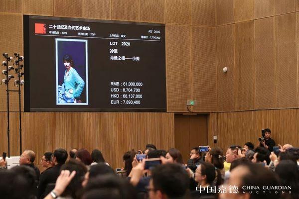 【中国嘉德秋拍】二十世纪及当代艺术总成交3.81亿元,7件过千万,六创新纪录
