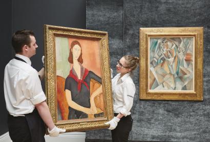 他的肖像艺术叱咤拍场 与毕加索平分秋色