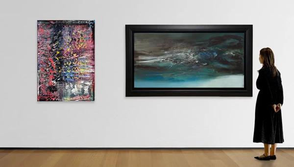 色彩的力量:李希特与赵无极旷世杰作震撼视觉体验