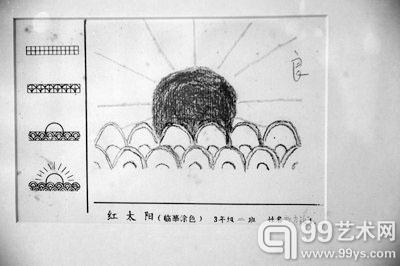 """方力钧小学三年级的蜡笔画只得了""""良""""-方力钧文献展呈现其艺术成"""
