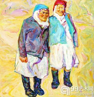 山坳(油画) 108厘米×108厘米 罗尔纯