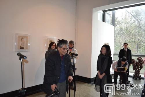 著名作家陈村和女艺术家潘曦