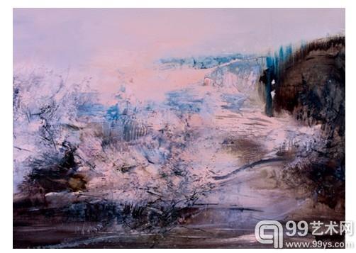 赵无极   《18.3.68》   1968年作   布面油画     95 x 105 cm