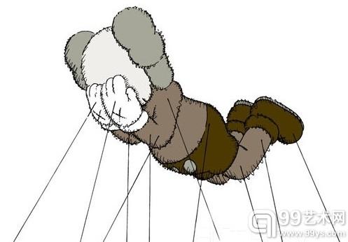 涂鸦艺术家KAWS受邀为梅西百货感恩节大游行创作气球