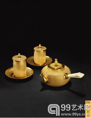 Lot1039 光南款 纯金玉霰茶具一组 成交价(含佣金):RMB 1,127,000