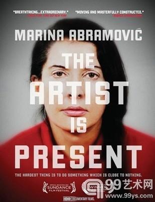 "纪录片""Marina Abramovic: The Artist Is Present""的海报"