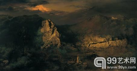 君心逢摇落,秋声不可闻 98cm×188cm 布面油画 2010