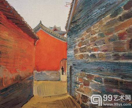 石窟寺 50cm×61cm  布面油画 2012