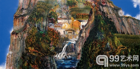 乡野梦境 100cm×200cm 布面油画 2009