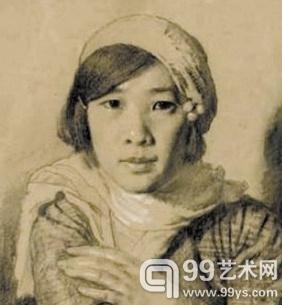 徐悲鸿的素描《孙多慈像》,2011年11月以310万元拍出