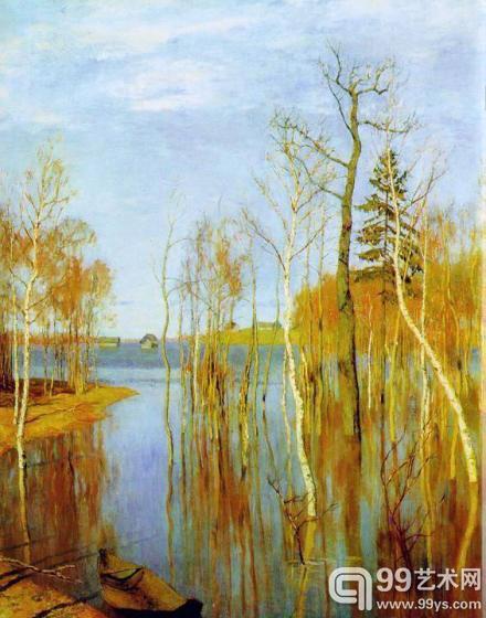 俄罗斯巡回展览画派大师列维坦作品