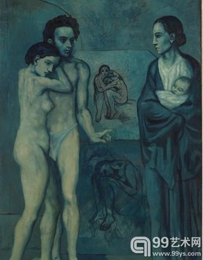 《人生》 毕加索 1903年 克利夫兰美术馆