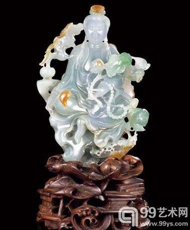 翡翠观音——中国玉石雕刻大师颜桂明作品