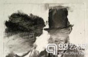 埃德加·德加的《一个男人和一个女人的头》(Heads of a Man and a Woman) 将在山麓艺术中心展出。