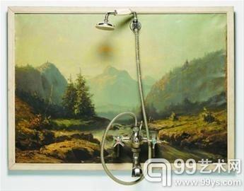 超写实古典油画风景图