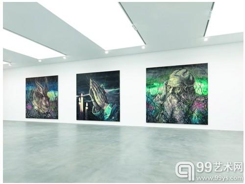 曾梵志伦敦高古轩个展现场© Zeng Fanzhi Studio. Courtesy Gagosian Gallery Photo Mike Bruce