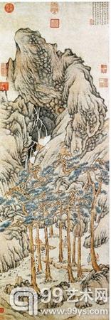 文徵明作品《松壑飞泉》